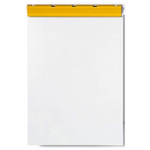 Alu-Schreibplatte, A4, Position Klemme kurze Seite, 215mm breit, grau