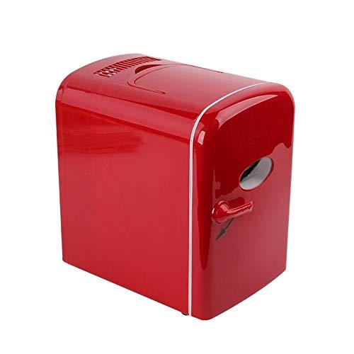 Mini Fridge,4L Auto Car Warmer and Cooler Bag Mini Refrigerator Cosmetics Car Dual Auto Car Home Office 12V,Red