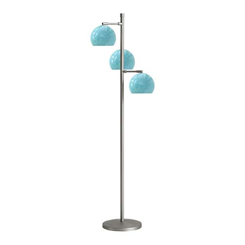 JSJJAJN Interior American Iron Bola Lámpara LED Ajustable Permanente Luces de la Sala de Estar Dormitorio Lámparas Sofá Inicio lámpara de Piso (Lampshade Color : Blue)