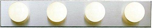 Kichler 624NI, Bath and Vanity Wall Vanity Lighting, 4 Light, 240 Total Watts, Brushed Nickel