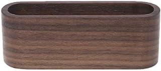 لوازم المكتب المدرسية المنزلية 20 قطعة طاولة خشبية عرض بطاقة عمل حامل مذكرة منظم صندوق التخزين، النوع: لون الجوز الأسود