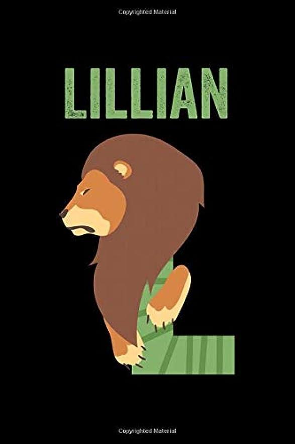 悩むアルミニウム信じられないLillian: Journal (Diary, Notebook) Personalized Custom Name Alphabet Lion Birthday Gift for Girls