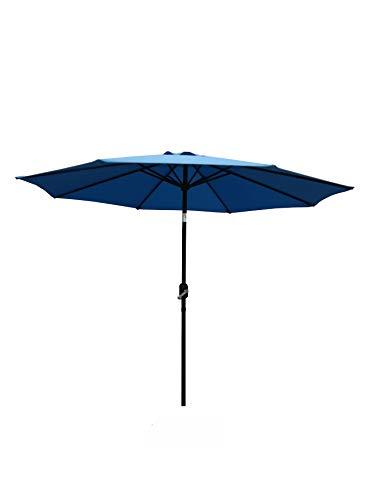 HENG FENG - Sombrilla de jardín de 2,3 m con protección UV Parasol Inclinado con manivela y función de inclinación para jardín al Aire Libre Patio Azul Claro