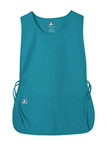 Adar Uniforms Unisex Arbeitsschürze mit Taschen für Schönheit und medizinische Berufe 702 Farbe: TBL | Größe: X-Large