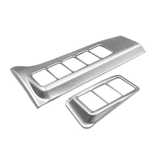 ZHANGJINYAN Ajuste para Mitsubishi Outlander 2016-2019 Detector De Automóviles Stick ABS CHORMO Cabeza Cabeza Fog Fog CUERTO DE Interruptor DE LUZ Ajuste Lámpara De Marco (Color : Silver)