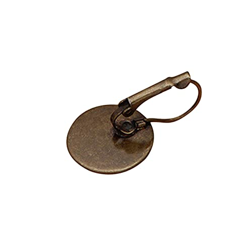 ZYYXB Ganchos para pendientes de alambre francés, ganchos para orejas, anillos de salto, ganchos de alambre francés, para hacer pendientes, anzuelos de cobre, pátina cian de 12 mm