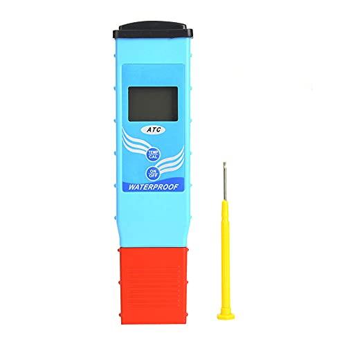QIRG Medidor De PH, Probador De PH, Pantalla LCD para Piscinas, Agua Potable para El Hogar