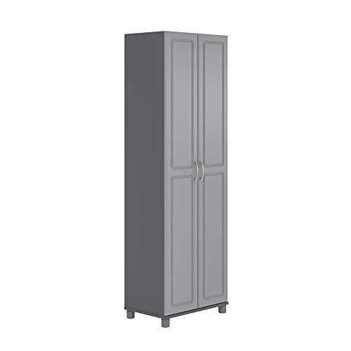 """SystemBuild Kendall 24"""" Utility Storage Cabinet - Gray"""