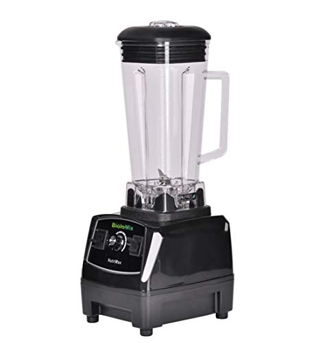 搅拌机榨汁机, 专业搅拌机混合器榨汁机大功率水果食品处理器冰沙机搅拌机切碎机搅拌机2200W,黒