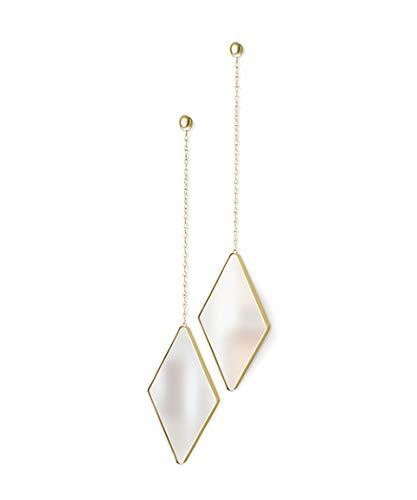 Umbra Dima Espejos en forma de diamante, juego de 3, Dorado