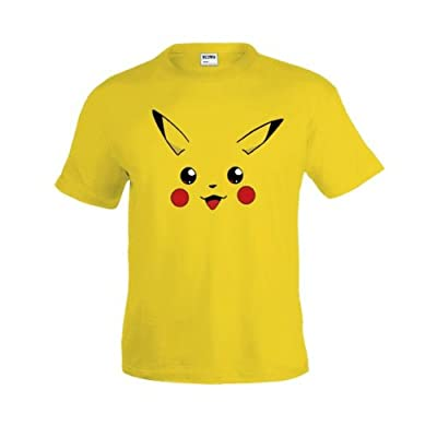 Mx Games Camiseta Pokemon - Pikachu Face (Talla: 5-6 años) de Mx Games