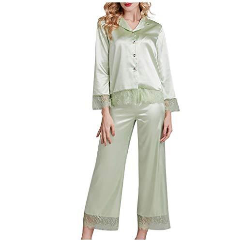 SHUANGA 2020 Damen Neue Nachthemd Damen Pyjamas Bademäntel Simulation Seidenpyjamas...