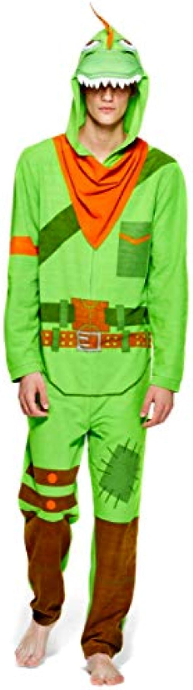 Epic Games Fortnite Rex Mens Union Suit - Onezie Adult Costume Sleeper