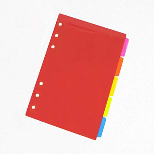 1 Juegode separadores de índice dehojas sueltas A5 A6PP coloridos separadores de...