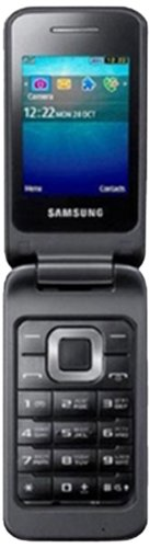 Samsung C3520 - Teléfono móvil (EDGE, cuatribanda, memoria interna de 28 MB, Bluetooth), color gris oscuro (importado)
