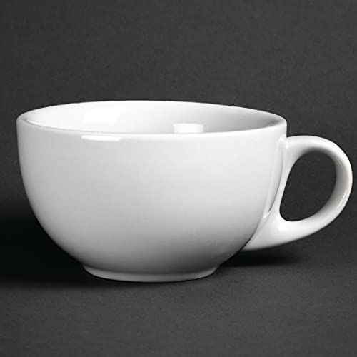 Athena Hotelware - Juego de 12 tazas de capuchino (285 ml, 285 ml)