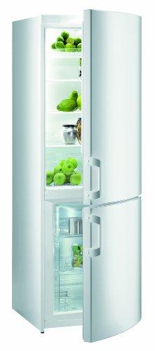 Gorenje RK 61810 W Kühl-Gefrier-Kombination / A+ / 180 cm Höhe / 0.8 kWh / 230 L Kühlteil / 92 L Gefrierteil / 4-Sterne-Gefrierleistung / 1 Flaschenfach, zweireihig für XL-Flaschen / weiß