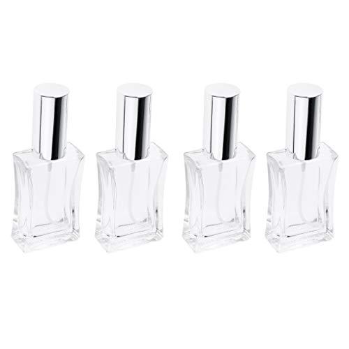 Amagogo Lot de 4 Tubes de Parfum En Verre Vide Rechargeable
