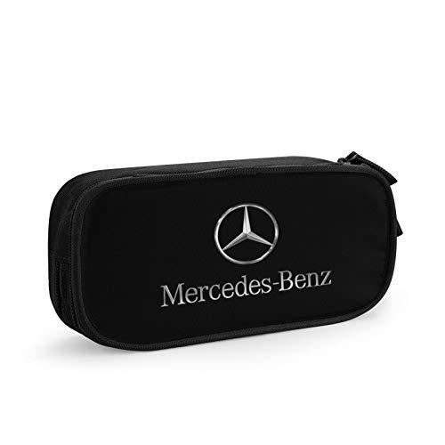 Caja de lápices Mercedes Benz, gran capacidad, compartimentos para lápices, organizador de escritorio, papelería para artículos escolares y de oficina