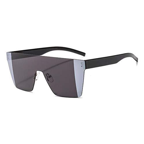 ZZOW Gafas De Sol De Una Pieza De Gran Tamaño A La Moda para Mujer, Gafas De Sol Cuadradas Sin Montura De Colores Transparentes con Degradado, Gafas De Sol Uv400 para Hombre