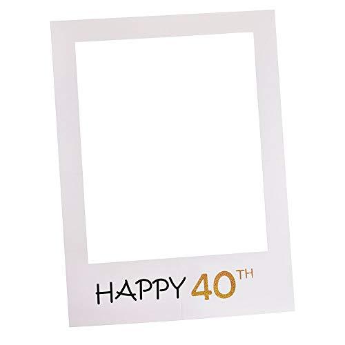 1/16/18/21/30/40/50/60e fotolijst Booth Props Gelukkige Verjaardag Papier Party Prop(60 * 70cm40 jaar oud)