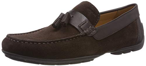 Geox U Moner A, Mocasines Hombre, Marrón Brown/Coffee