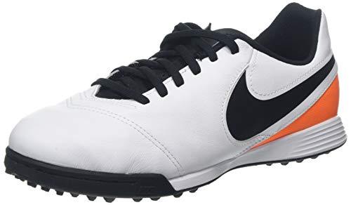 Nike Jr Tiempo Legend VI TF, Scarpe da Calcio Unisex Bambini, Bianco (White/Black-Total Orange), 38.5