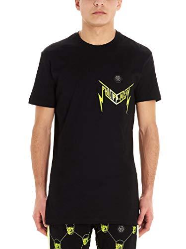 Luxury Fashion | Philipp Plein Heren MTK4434PJY002N02 Zwart Katoen T-shirts | Lente-zomer 20