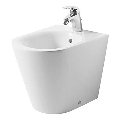 Ideal Standard - Bidet a Pavimento Filo Parete, Tonic k506061 - Bianco, Monoforo, A Magazzino