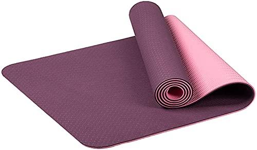 LSLS Esterilla De Yoga Mats de Yoga Antideslizante, luz Suave, Fitness Ejercicio Mat de Espesor 6mm Esterilla Fitness (Color : H)