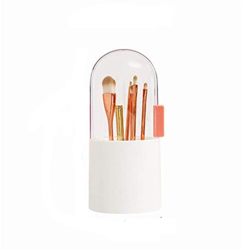 Boîte De Rangement De Brosse De Maquillage, Baril, Couverture, Brosse, Perle, Commode, Table, Courroie Cosmétique Anti-poussière