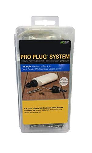 "PRO-PLUG SYSTEM Plug and Fasteners - 100 pc Kit Red Balau- plugs 5/16"" diameter"