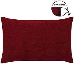 Daksh 1 Waterproof Dustproof Bugproof California Size Zippered Pillow Protector Maroon- 20x30