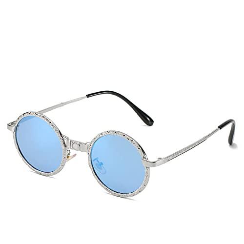 HAOMAO Gafas de sol fotocromáticas redondas punk de marcos completos de metal retro para mujeres y hombres Gafas de conducción Uv400 7