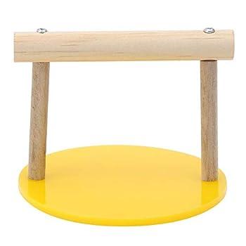 Hffheer Support en Bois pour Cage à Oiseaux, Table perchoir pour Perroquet de Petite et Moyenne Taille