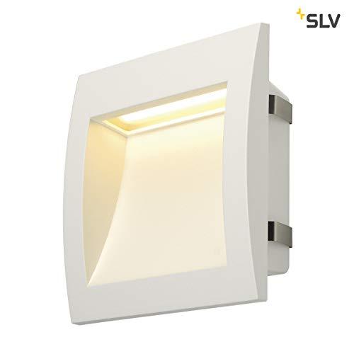 SLV LED wandinbouwlamp DOWNUNDER OUT voor buitenverlichting van muren, wegen, ingangen, trappen, outdoor wandlamp, LED-trapverlichting, wandlamp, inside, warmwit, 3,3 W