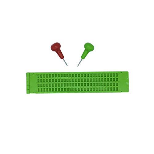 小型携帯点字器 点字器具 練習 (小)4行×28マス