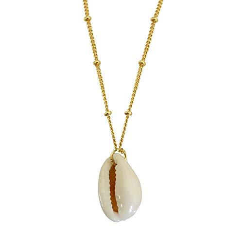 Smilla Brav® Muschel Halskette Kauri Muschelkette - Gold - VH42