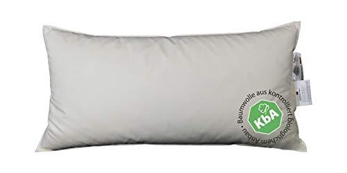 Vita Schlaf Bio Luxe KBA Daune Kissen Organic GÄNSE Deutsche Qualitat alle Größen GOTS 30% Daune (40x80cm MITTELFEST)