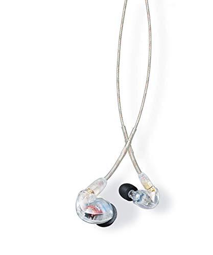 Shure SE425-CL Professionellen Ohrhörer mit Sound-Isolating-Design, zwei High-Definition-MicroDrivern und transparentem Kabel mit 3,5-mm-Klinke für präzisen und natürlichen Klang