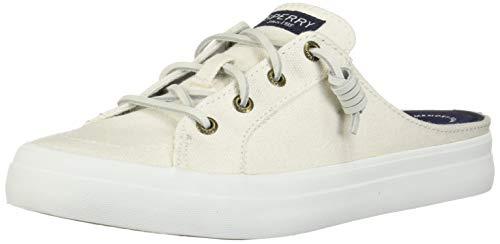 Sperry Women's Crest Vibe Mule Canvas Sneaker, White, 9 M US