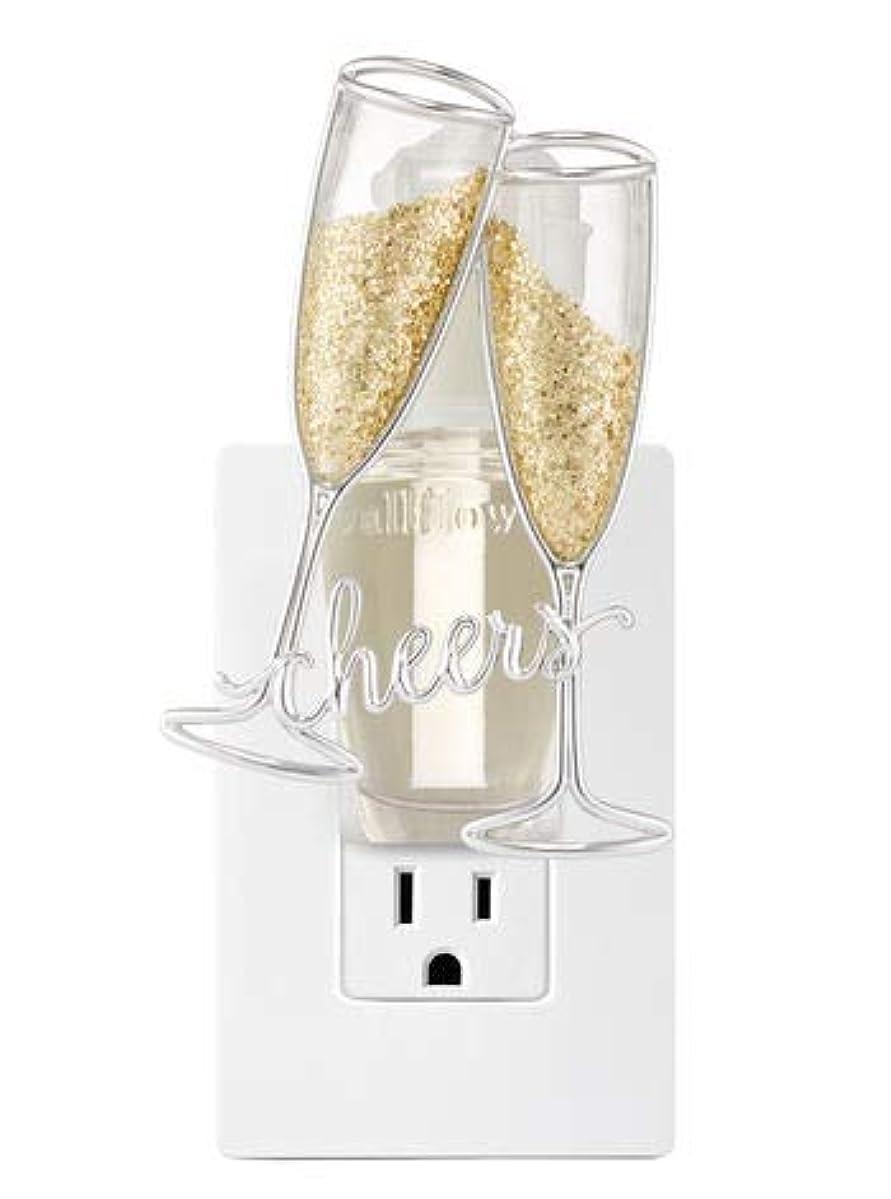 触手動機付ける偽造【Bath&Body Works/バス&ボディワークス】 ルームフレグランス プラグインスターター (本体のみ) チアーズシャンパン ナイトライト Wallflowers Fragrance Plug Cheers Champagne Night Light [並行輸入品]