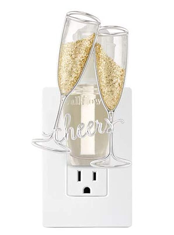 エキスパート連合男らしさ【Bath&Body Works/バス&ボディワークス】 ルームフレグランス プラグインスターター (本体のみ) チアーズシャンパン ナイトライト Wallflowers Fragrance Plug Cheers Champagne Night Light [並行輸入品]