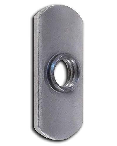 T Nuts T Slot Extrusion T Slide Nut Weld Nuts Spot Weld Tabs Cage Nuts 10 Pack 3/8-16 Steel Tab Weld in T for T Slot Aluminum Extrusion Economy T Nut Weld Nut Dual-tab T Nut Super-Deals-Shop