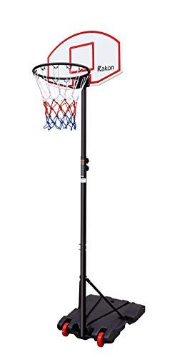 Rakon Kids Portable Height Adjustable Basketball Hoop Stand, 28 Inch Backboard, Basketball Goals...
