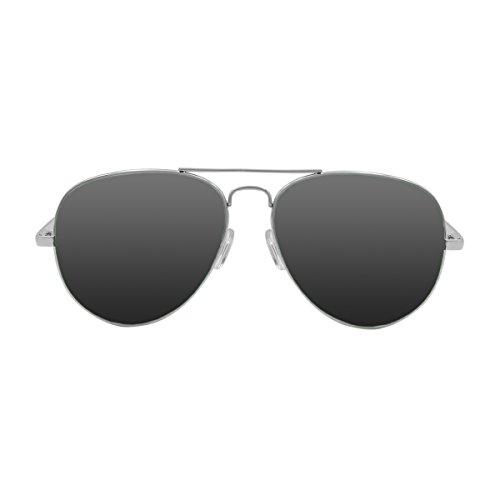 Ocean Sunglasses - Banila aviator - lunettes de soleil en Métal - Monture : Argent - Verres : Fumée (18110.2)