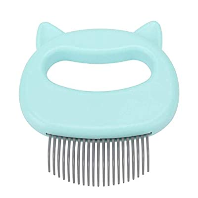 MOMSIV Cat Comb Massager Pet Hair Removal Massaging Shell Comb Massage Tool for Removing Matted Fur, Knots and Tangles (Green) from MOMSIV