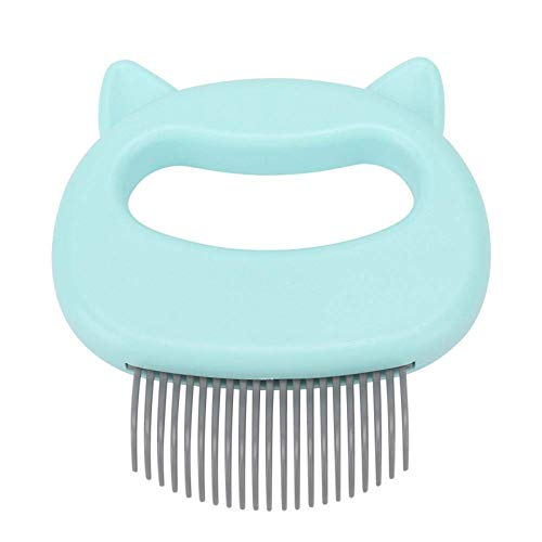 MOMSIV Cat Comb Massager Pet Hair Removal Massaging Shell Comb Massage Tool for Removing Matted Fur, Knots and Tangles (Green)