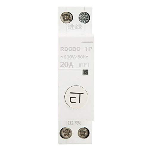 Disyuntor WIFI inteligente estable Cableado sencillo Disyuntor WIFI Interruptor disyuntor inteligente IP20 Componentes electrónicos para interruptor doméstico(1P 20A)