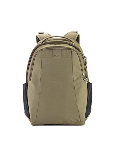 Pacsafe Metrosafe LS350 anti-theft 15L backpack Mochila tipo casual, 42 cm, 15 liters, Verde (Earth Khaki 221)